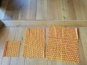 Bienenwachstücher selbst herstellen. Stoffreste für bunte Wachstücher