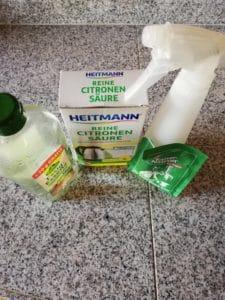 Putzmittel ohne Plastik können ganz einfach selbst hergestellt werden.