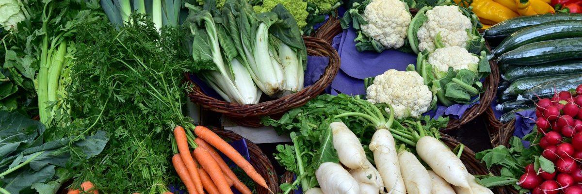 regionale Produkte wie Obst und Gemüse